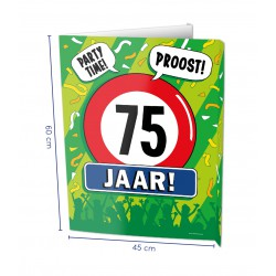 Window sign 75 jaar