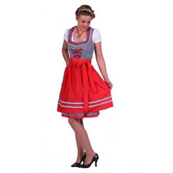 Dirndl Lena blauw /rood